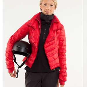 Lululemon pedal power red down jacket